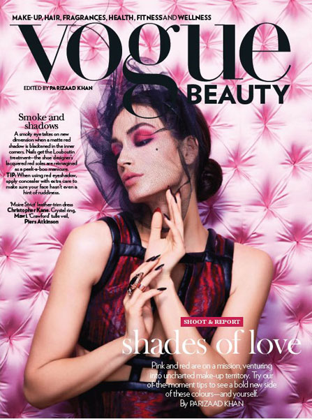 Dimitra Altani Pinks And Reds Beauty Makeup For Vogue India Magazine